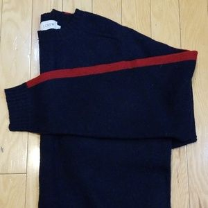 J. Crew Navy with Red Stripe Sweater